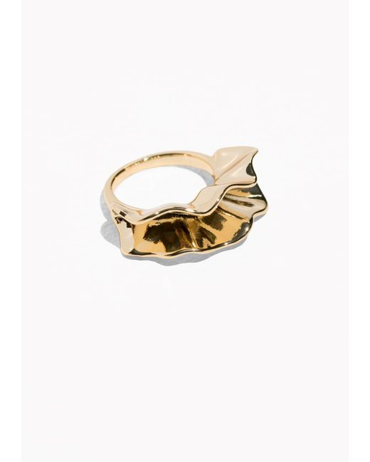 & Other Stories | Metallic Rippling Waves Ring | Lyst