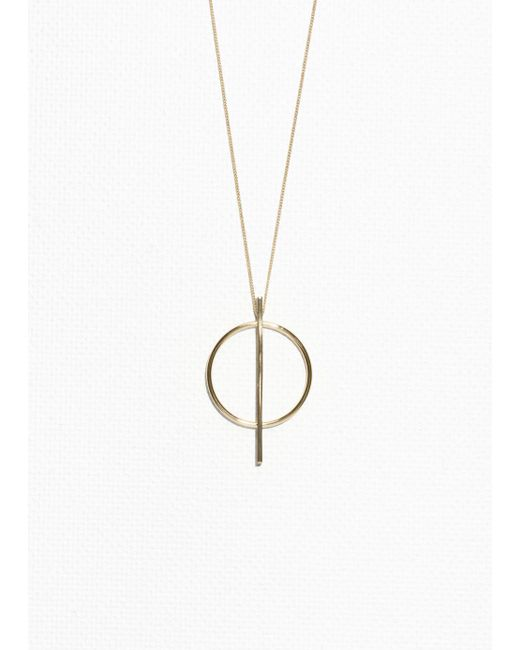 & Other Stories - Metallic Geometric Circle Necklace - Lyst