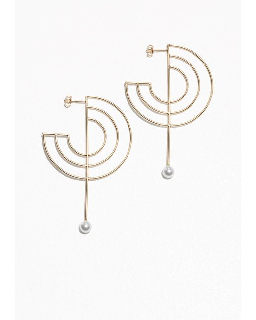 & Other Stories | Metallic Round Geo Earrings | Lyst
