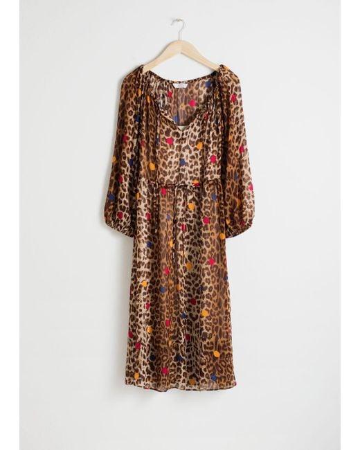 & Other Stories - Natural Leopard Dot Kaftan Dress - Lyst