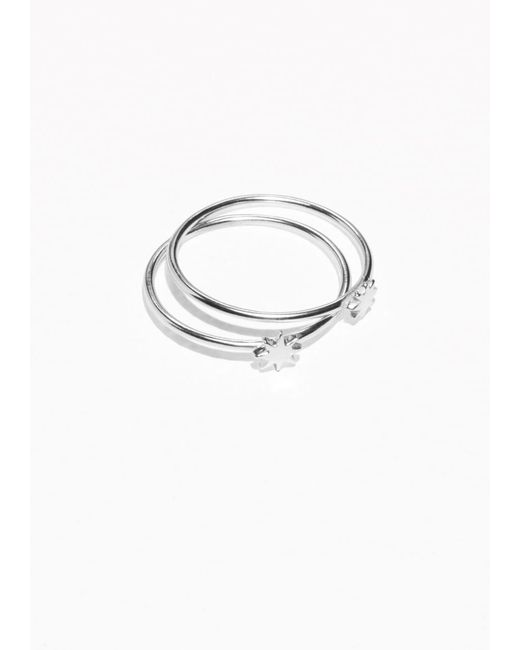 & Other Stories | Metallic Stacked Star Ring | Lyst