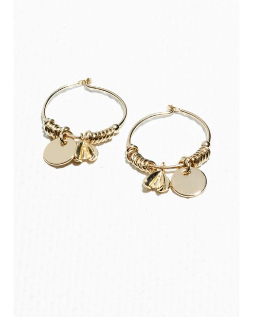 & Other Stories - Metallic Ornament Hoops - Lyst