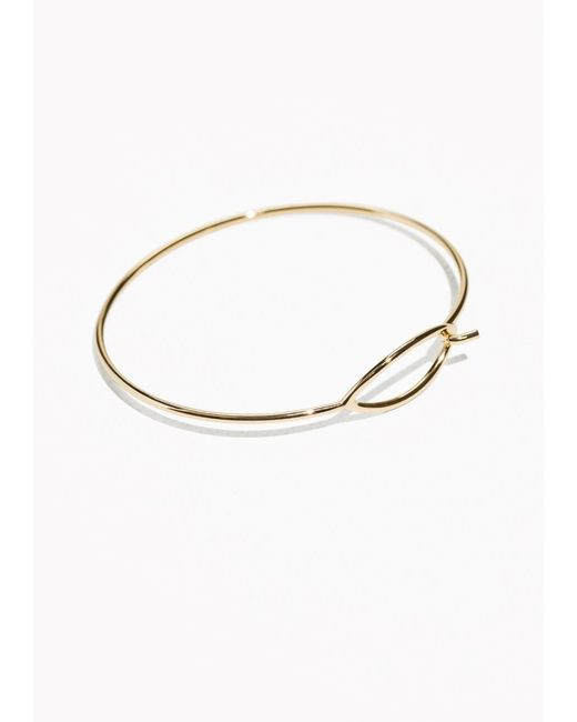 & Other Stories | Metallic Open Oval Cuff | Lyst