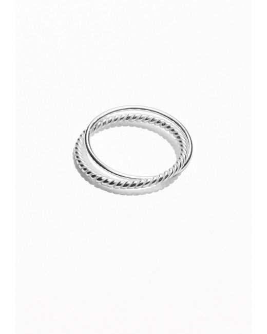 & Other Stories | Metallic Two-ring Set | Lyst