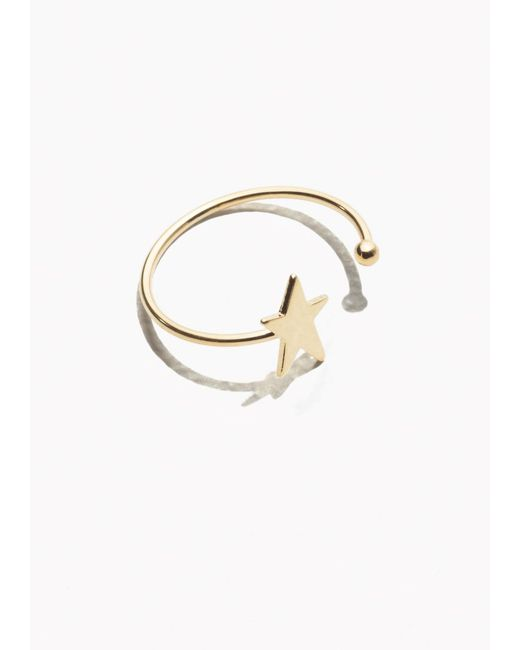 & Other Stories | Metallic Starlet Open Ring | Lyst