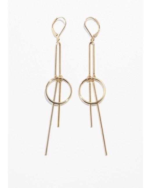 & Other Stories - Metallic Circle Bar Hanging Earrings - Lyst