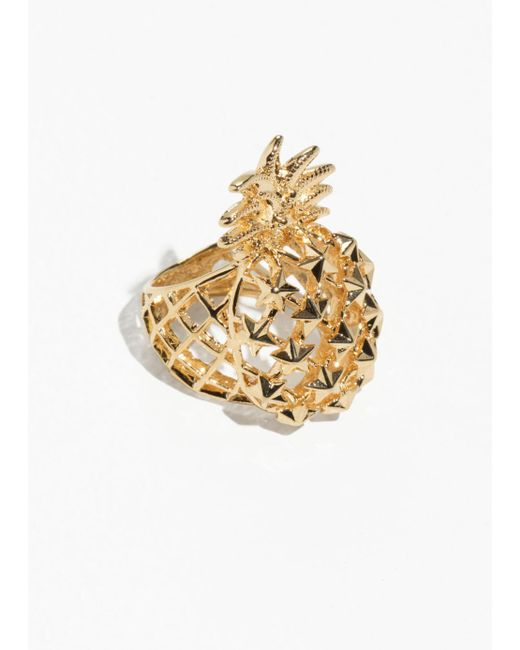 & Other Stories - Metallic Pineapple Ring - Lyst
