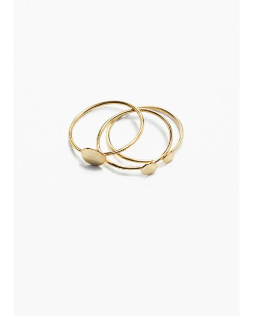 & Other Stories - Metallic Charm Multi Rings - Lyst