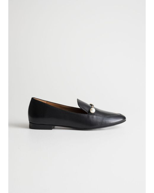 1dd307d88f3 Lyst -   Other Stories Duo Pearl Buckle Loafers in Black