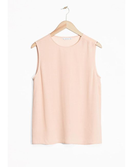 & Other Stories | Natural Button Shoulder Tank | Lyst