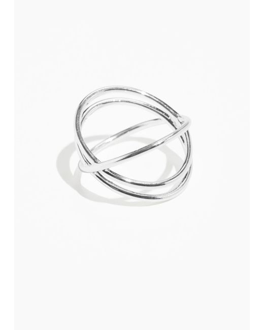& Other Stories - Metallic Trio Orb Ring - Lyst