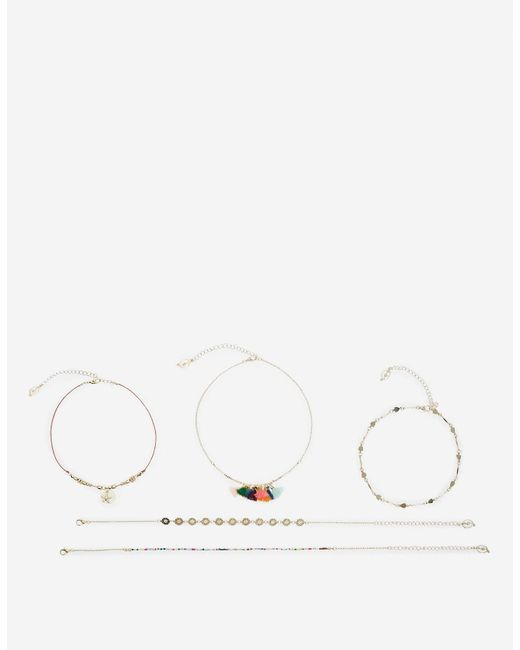 Stradivarius | Yellow Necklace With Thin Chains | Lyst