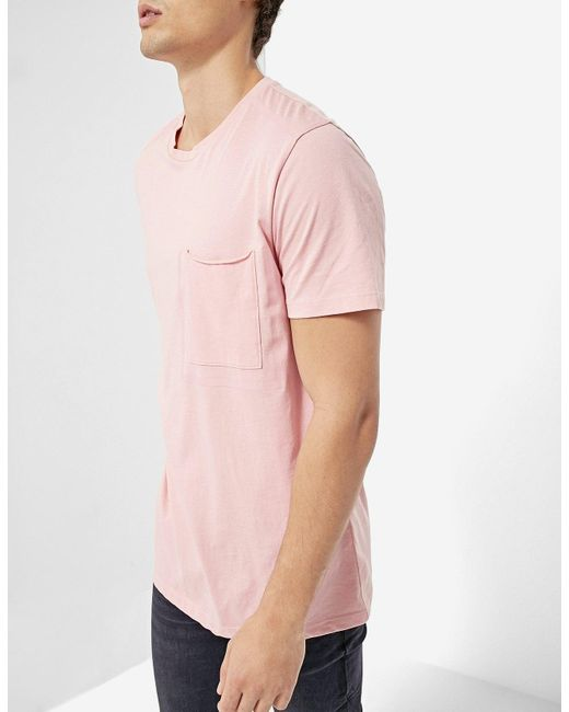 Stradivarius | Pink T-shirt With Sealed Pocket for Men | Lyst