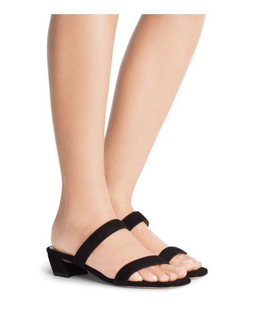 Stuart Weitzman Patent leather Slide Sandals buy cheap store free shipping with credit card genuine cheap online outlet very cheap 9vzlans