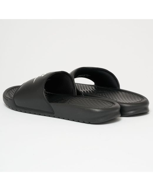 a2ef68bf808d Lyst - Nike Benassi Jdi Slides - Black   White in Black