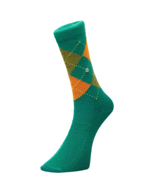 Burlington Socks | Green & Orange Preston Socks for Men | Lyst