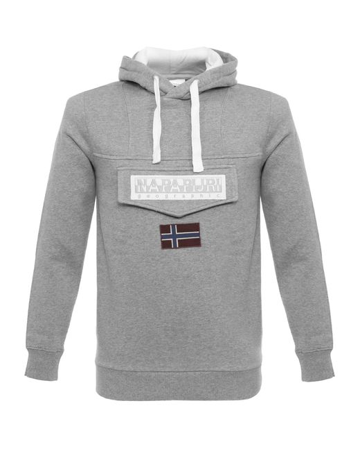 Napapijri | Gray Burgee Grey Sweatshirt for Men | Lyst