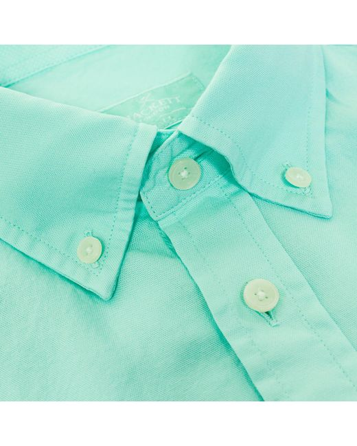 Received for Christmas purchased at JCPenney. Never wore it. Men's Stafford Button Down Oxford size 15 1/2 34/ Mint green color.