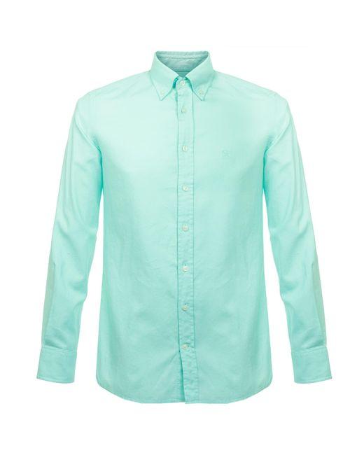 Hackett   Green Hackett Gmt Dyed Mint Oxford Shirt for Men   Lyst