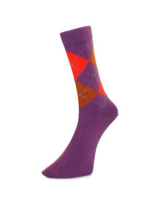 Burlington Socks | Burlington King Purple Argle Socks 21020 for Men | Lyst