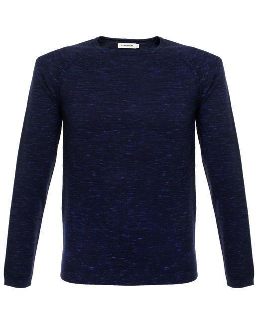 J.Lindeberg | Blue Fredric Dyed Knit Indigo Jumper for Men | Lyst