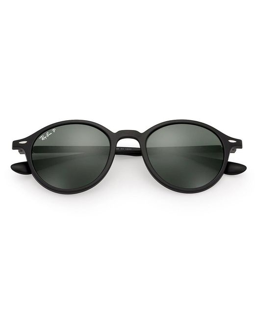 33903ddb3a ... Ray-Ban - Black Round Liteforce Sunglasses - Polarised Green Classic G- 15 Lenses