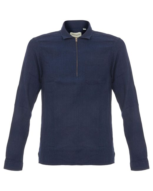Oliver Spencer | Blue Faro Shirt Kildale Indigo Rinse for Men | Lyst