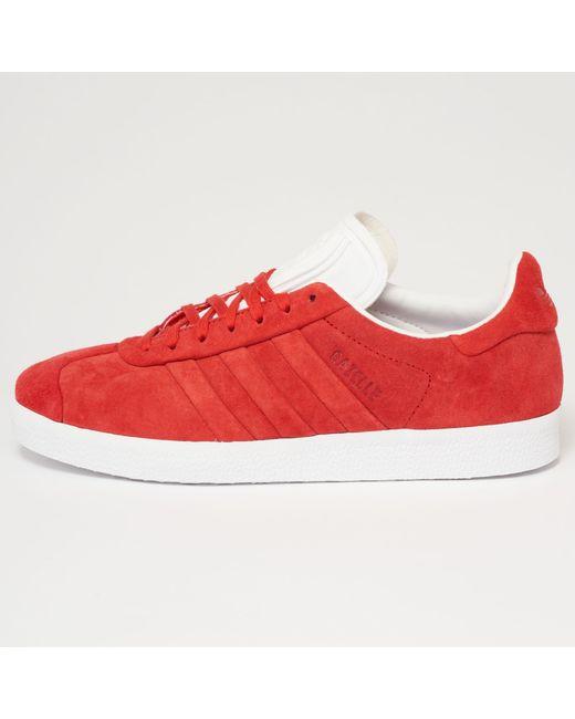 GAZELLE STITCH AND TURN - Sneaker low - collegiate red/footwear white K3qIdT
