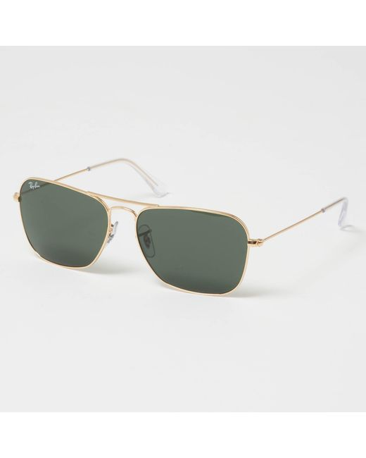 d9387455df Ray-Ban - Metallic Gold Caravan Sunglasses - Green Classic G-15 Lenses for  ...