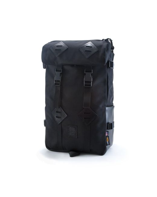 Topo Designs - Topo Design Kettlesack Ballistic Black Leather Backpack for Men - Lyst