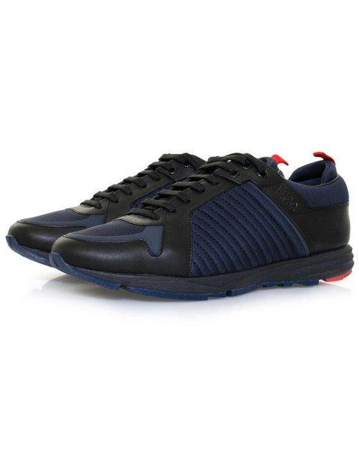 HUGO | Hugo Boss Hybrid Runn Dark Blue Shoes for Men | Lyst