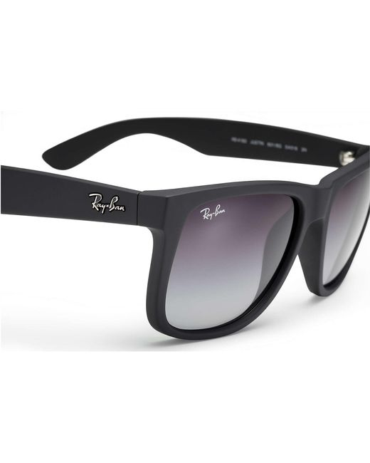 8fe5d4561f ... Ray-Ban - Multicolor Black Justin Sunglasses - Grey Gradient Lenses for  Men - Lyst ...