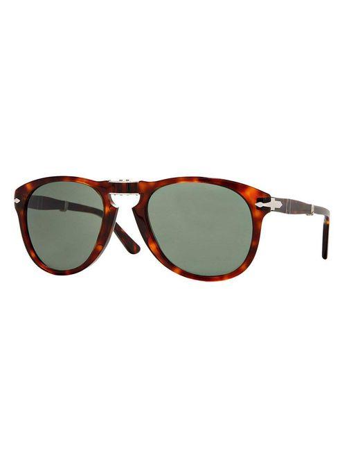 Persol - Black 714 Havana Tortoise Foldable Sunglasses 0po0714 24/ for Men - Lyst