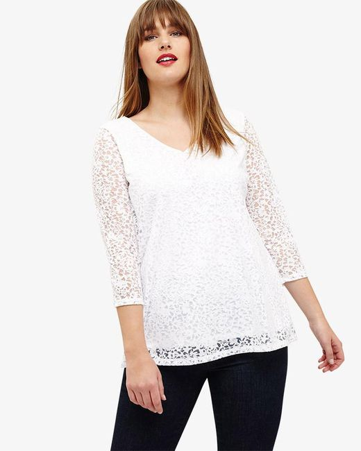 Studio 8 - White Makenna Burn Out Top - Lyst