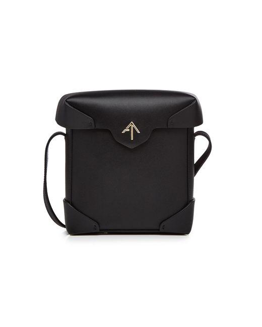 MANU Atelier - Black Sac boîte à bandoulière en cuir Mini Pristine - Lyst