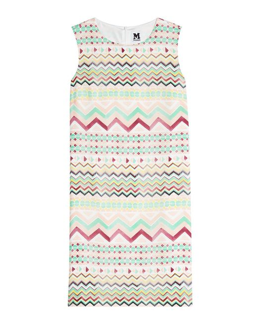 M Missoni - Multicolor Printed Silk Dress - Lyst