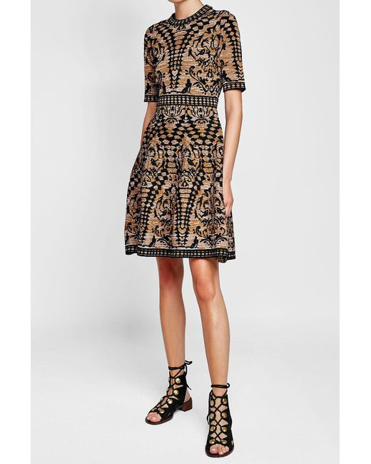 M Missoni | Black Intarsia Dress | Lyst