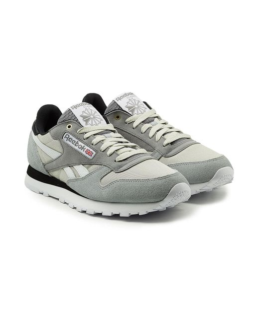 Reebok - Gray Classic Sneakers With Leather, Mesh And Suede for Men - Lyst