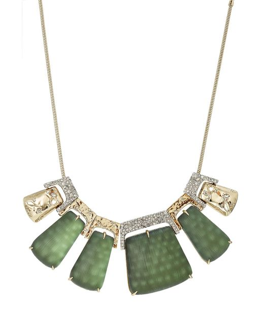 Alexis Bittar | Metallic Rocky 10kt Gold Necklace With Lucite, Crystals And Rhodium | Lyst