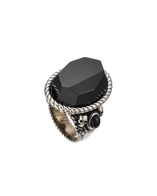 Alexander McQueen - Black Knot Ring - Lyst
