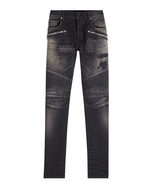 Balmain - Multicolor Biker Jeans for Men - Lyst