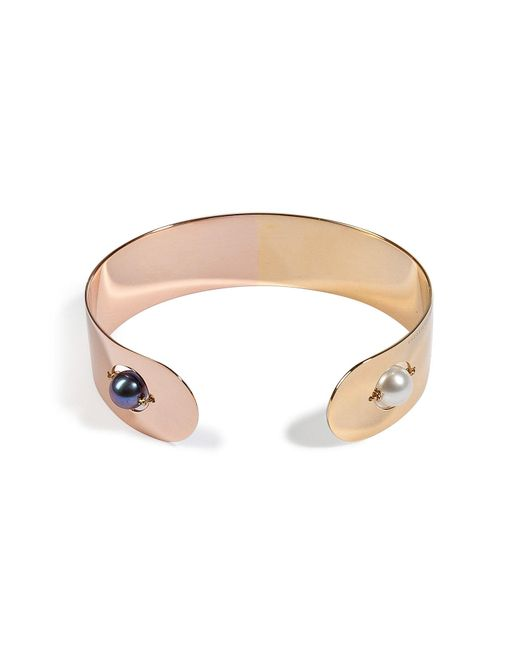 Delfina Delettrez | Metallic Pink And Gold Plated Little Roll In Stone Cuff | Lyst