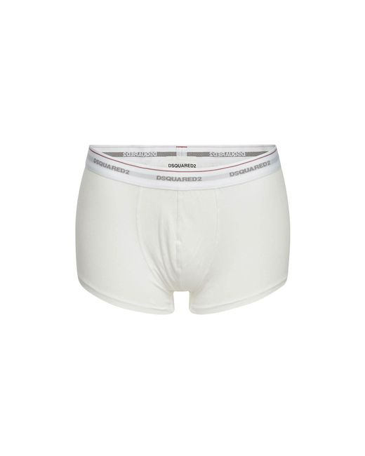 DSquared² - White Pack Of 3 Cotton Boxers for Men - Lyst