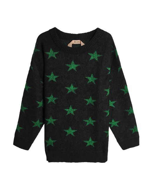 N°21 - Green Pullover With Mohair And Wool - Lyst