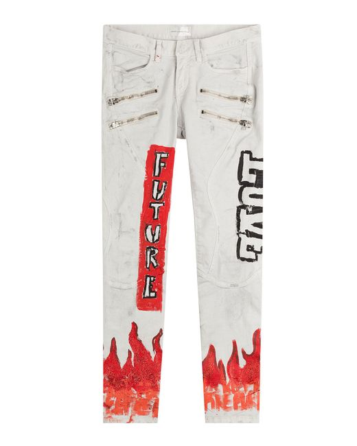Faith Connexion   Multicolor Printed Skinny Jeans   Lyst