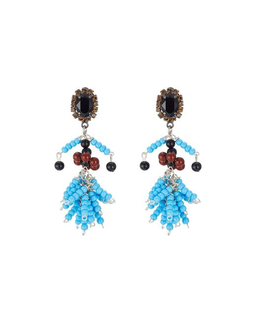 Marni - Multicolor Embellished Earrings - Lyst