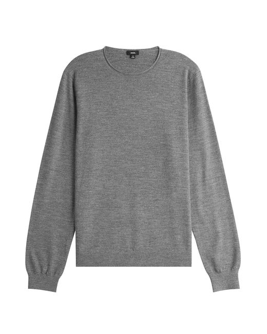 Vince - Gray Wool Pullover With Cashmere for Men - Lyst