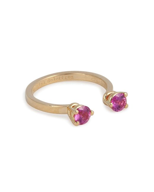 Delfina Delettrez - 18kt Yellow Gold Ring With Sapphires - Lyst