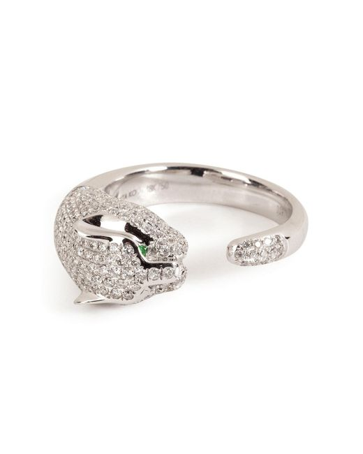 Anita Ko | 18kt White Gold Cougar Ring With Diamonds | Lyst