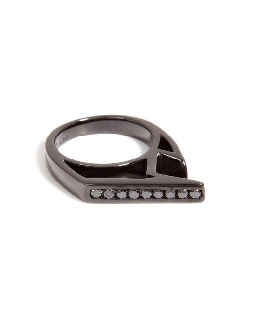 Lynn Ban | Black Rhodium-plated Silver Jagged Knuckle Ring B | Lyst